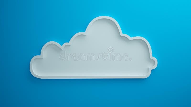 3d geeft de wolken blauwe achtergrond terug royalty-vrije stock afbeeldingen
