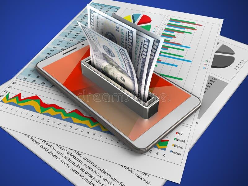 3d geld vector illustratie