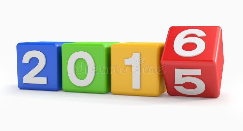 3d - gelukkig nieuw kleurrijk jaar 2016 - vector illustratie