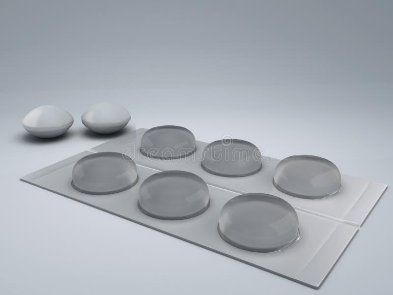 3d geneesmiddel stock illustratie