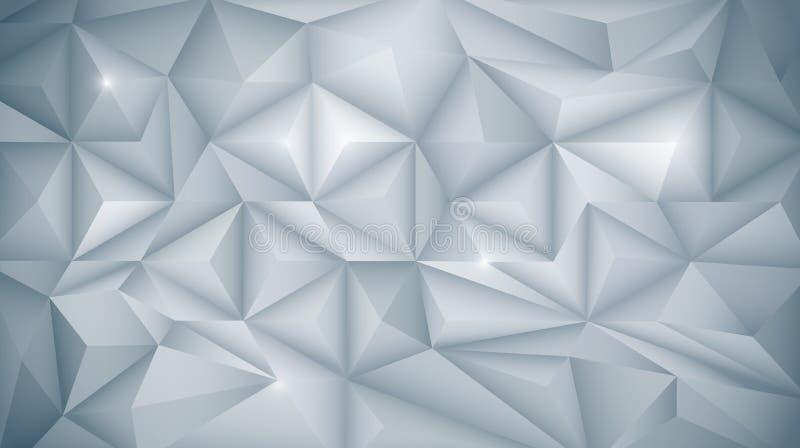 3D geométrico, polígono, forma del modelo del triángulo ilustración del vector