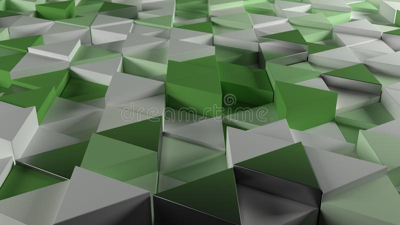 3D Geometric Abstract Background. Render of 3D Geometric Abstract Background stock image