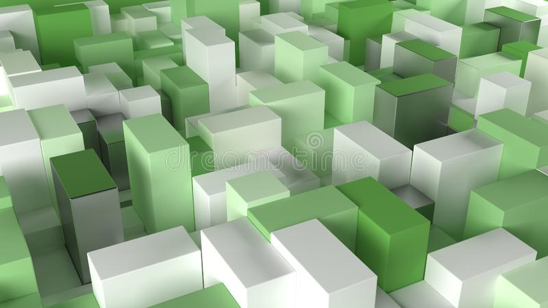 3D Geometric Abstract Background. Render of 3D Geometric Abstract Background vector illustration