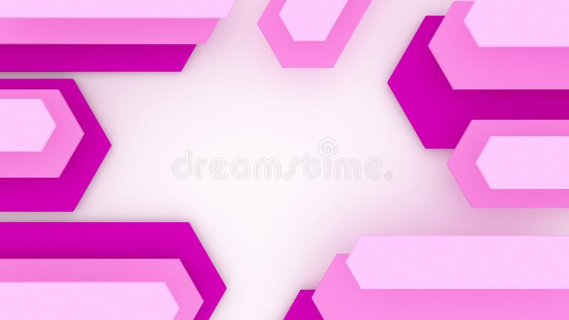 3D Geometric Abstract Background. Render of 3D Geometric Abstract Background royalty free illustration