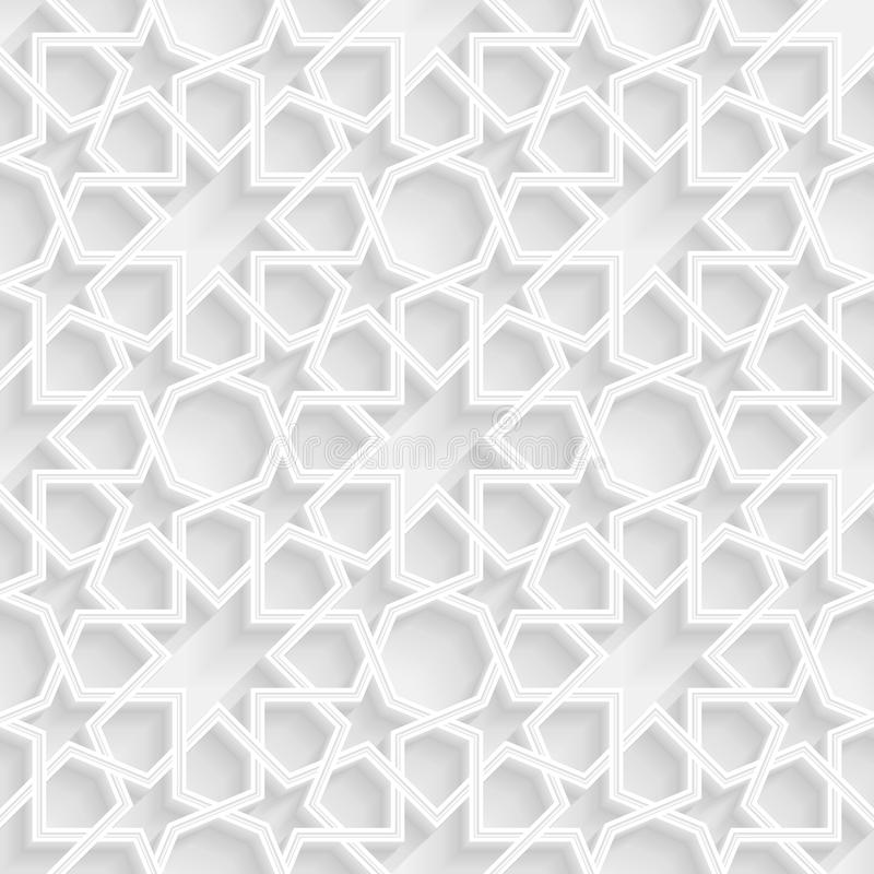 3d Geometric Star Pattern Background royalty free illustration