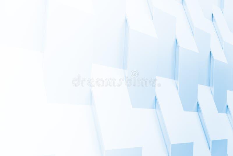 3D-Geometrie, weißer Abstract für den Hintergrund lizenzfreies stockfoto