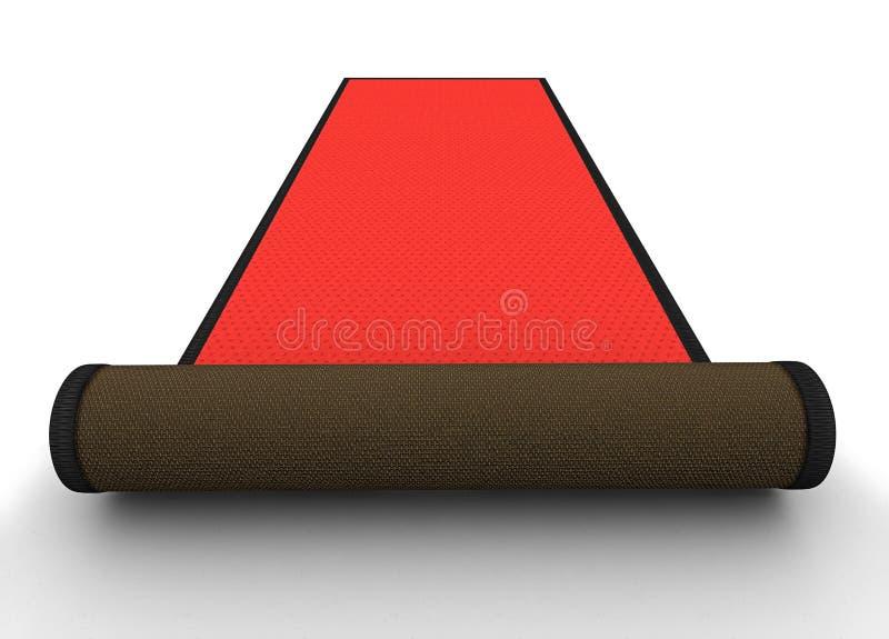 3d: Gerold Rood Tapijt stock illustratie
