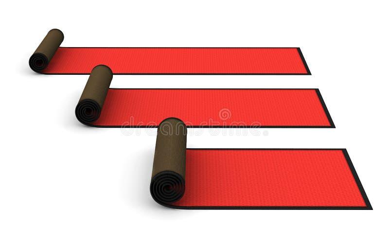 3d: Gerold Rood Tapijt vector illustratie