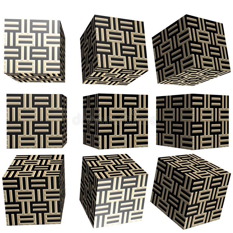 3D gevormde kubus royalty-vrije illustratie