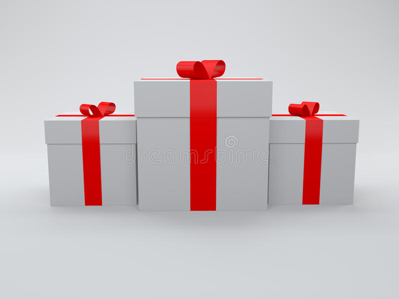 3d Gift Box Isolated On White Stock Image