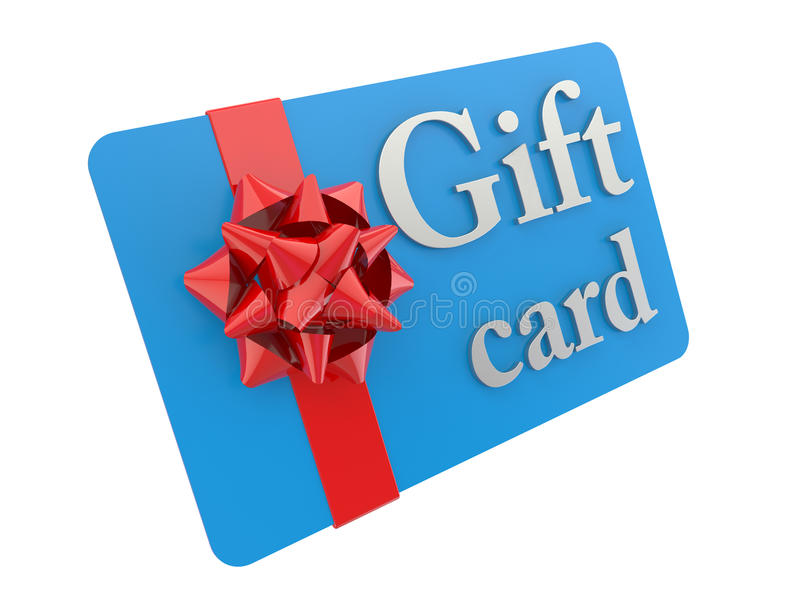 3D gift card vector illustration