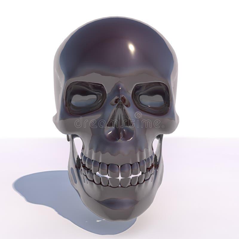 3D Glanzende schedel royalty-vrije illustratie