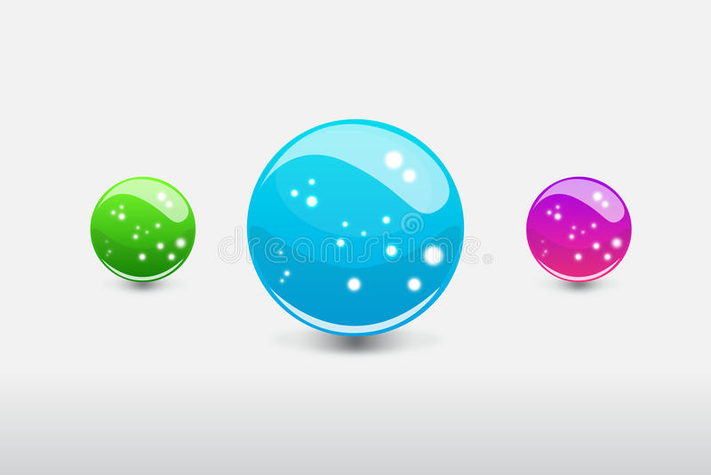 Download 3D Sphere With Glowing Dots Stock Vector - Image: 29709648