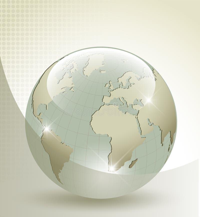 3d glass Earth globe stock illustration