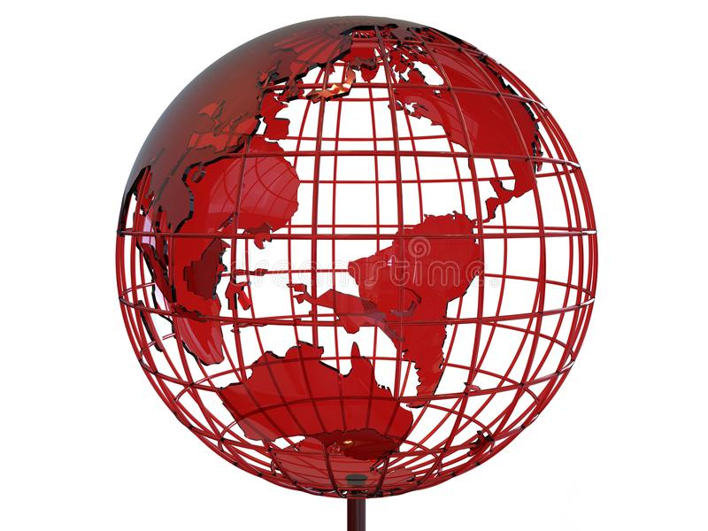 3D glass earth globe illustration royalty free illustration