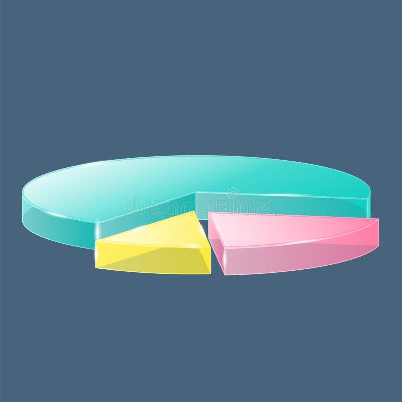Download 3D glass pie chart stock vector. Illustration of improvement - 42858418