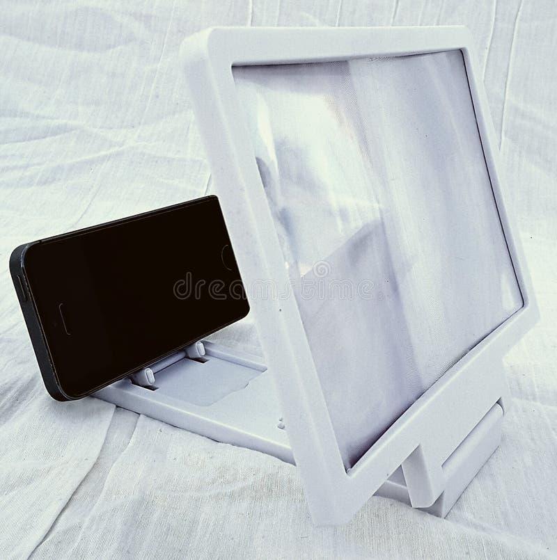 3D glasscherm stock foto