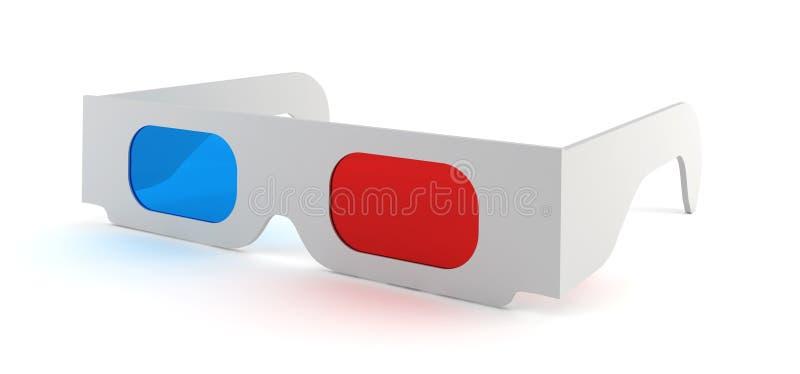 Download 3d glasses stock illustration. Image of paper, movie - 32467200