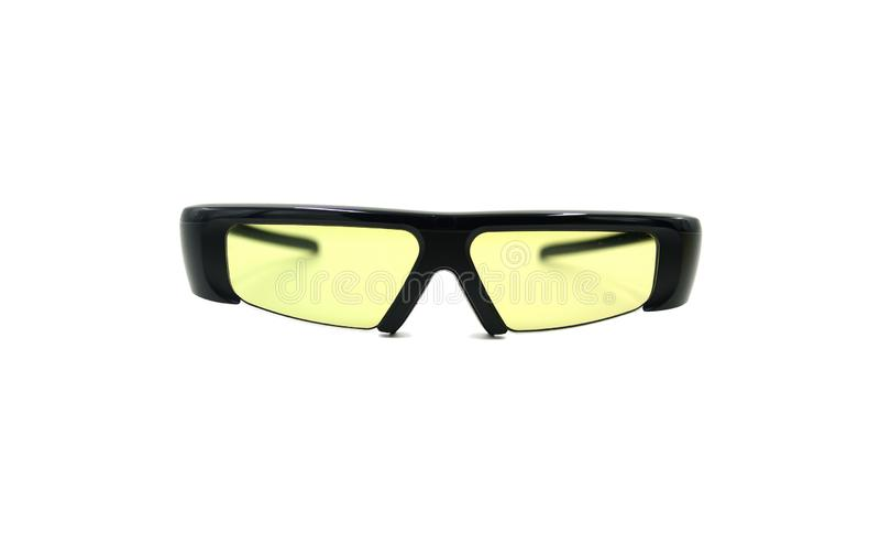 3D glasses.Glasses to watch 3D cinema. 3D glasses, isolated against white background royalty free stock images