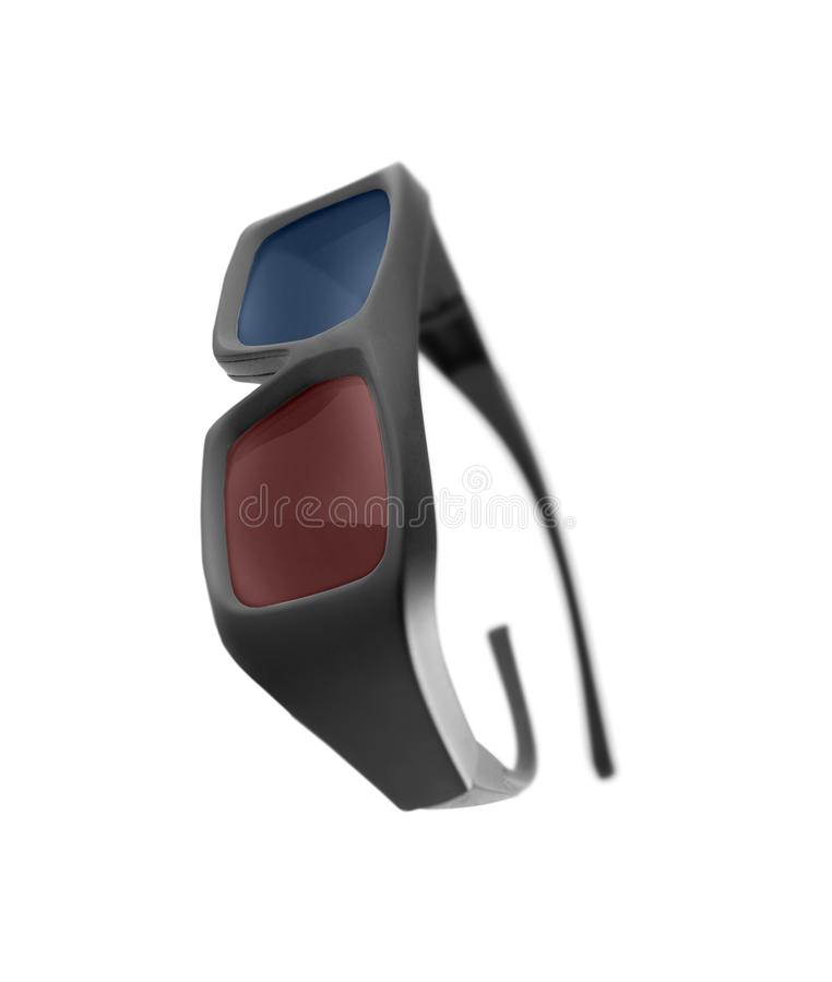 3D glasses isolated on white stock image