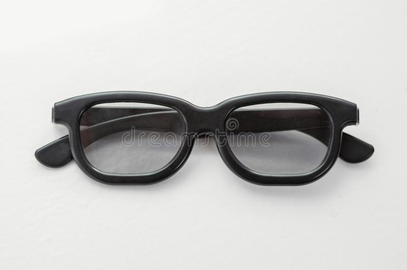 3D glasses on a white background. Modern cinema vision. stock image