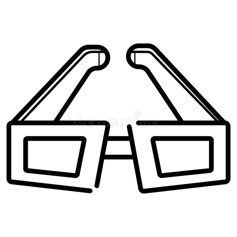 3d glazen vlakke vector stock illustratie
