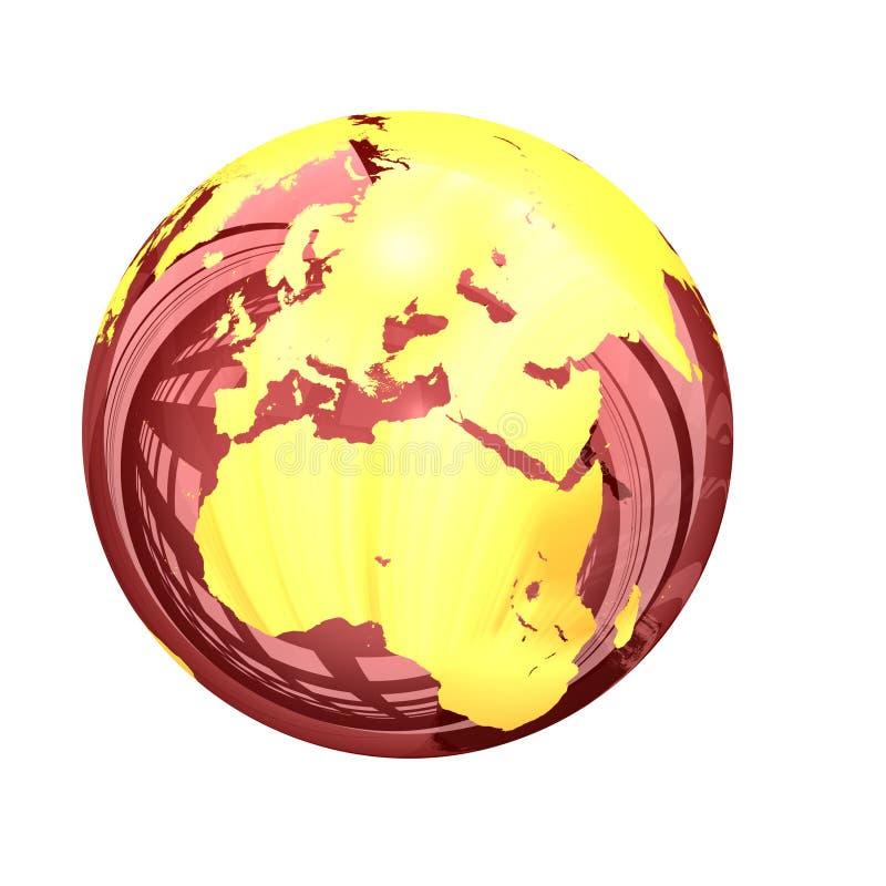 3d: Glazige Aardebol van Azië en Europa royalty-vrije illustratie