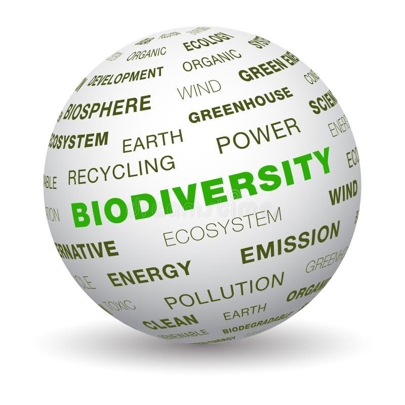 3d globe - biodiversity stock illustration