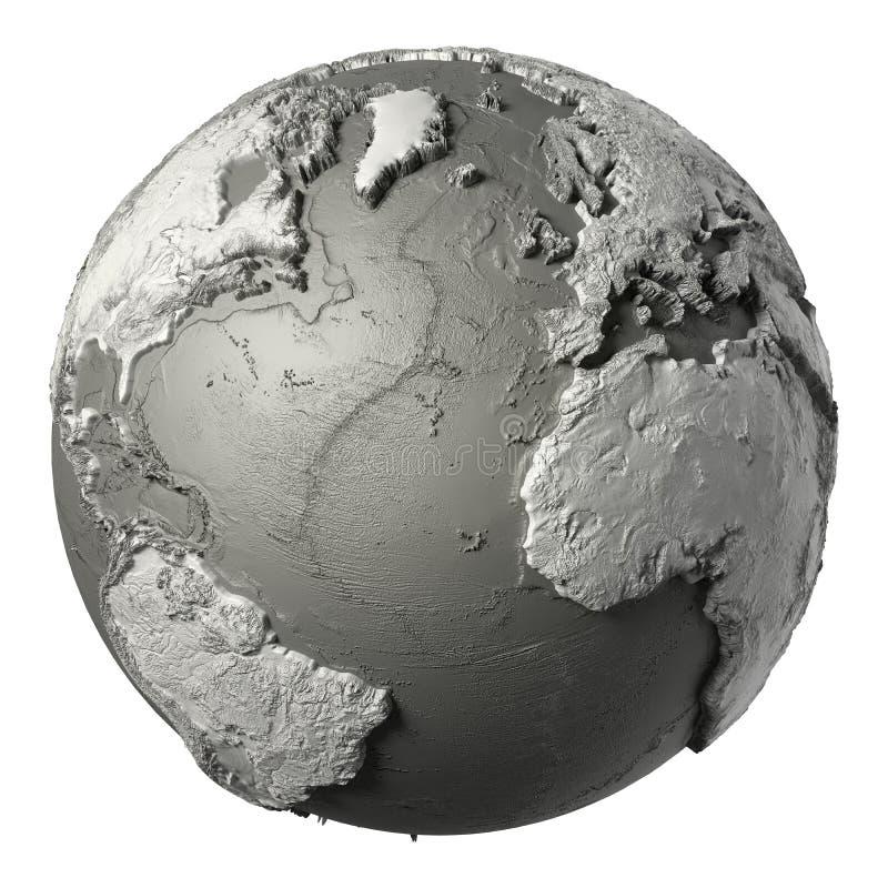 3D globo Océano Atlántico libre illustration