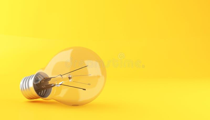 3D Gloeilamp royalty-vrije illustratie