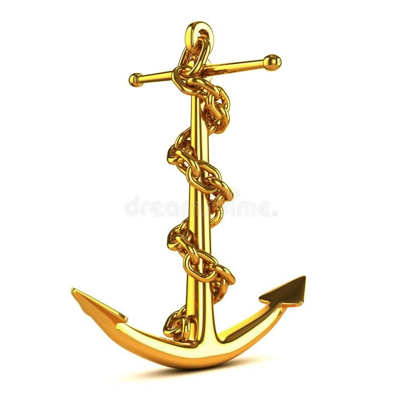 3d gold anchor photo - photo #2