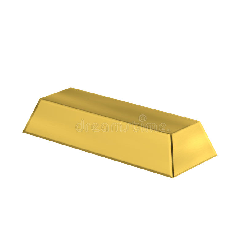 3D Gold Bar isolated stock image
