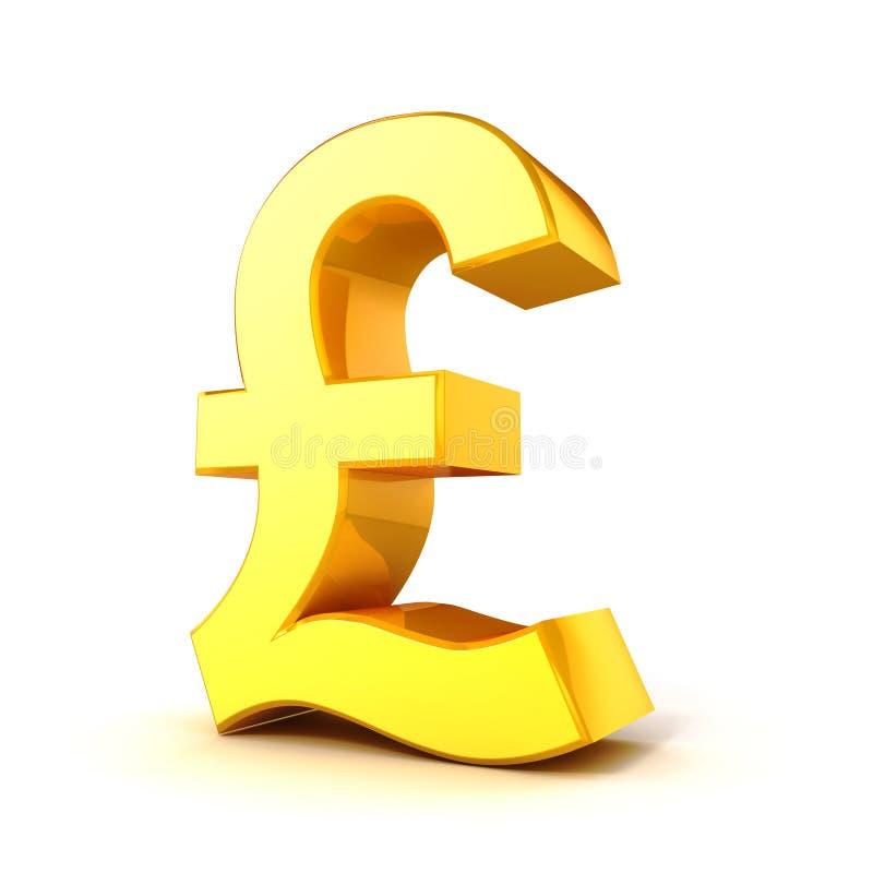 3d Gold Pound Currency Symbol Stock Illustration Illustration Of