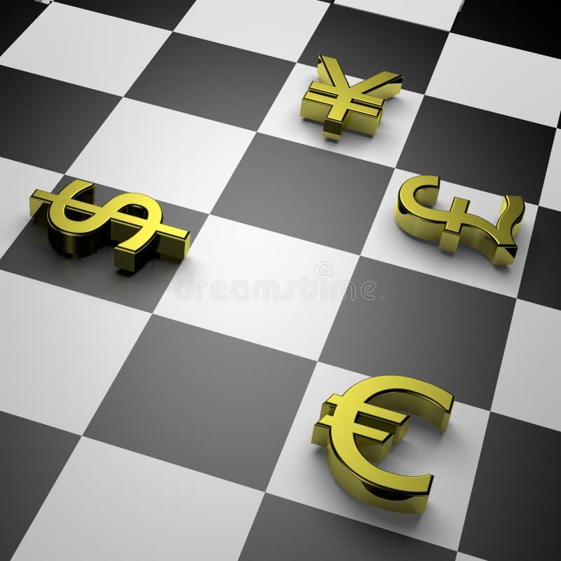 Currency war vector illustration
