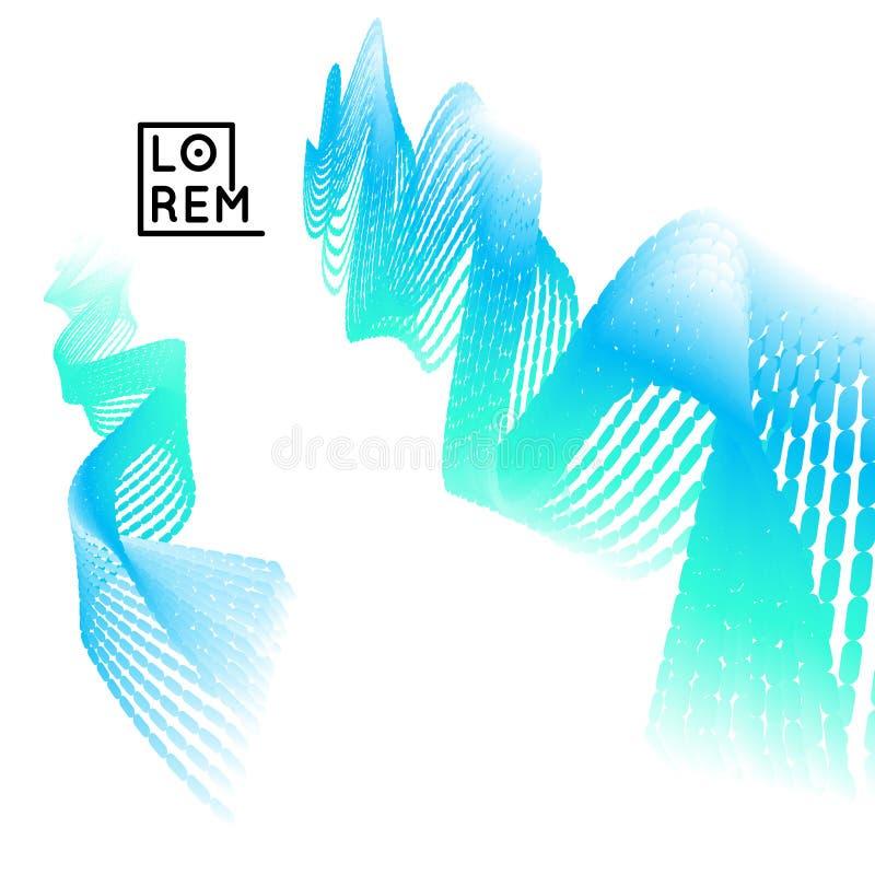 3d golvende achtergrond Dynamisch effect abstracte vectorillustratie Het malplaatje van het ontwerp Modern patroon stock illustratie