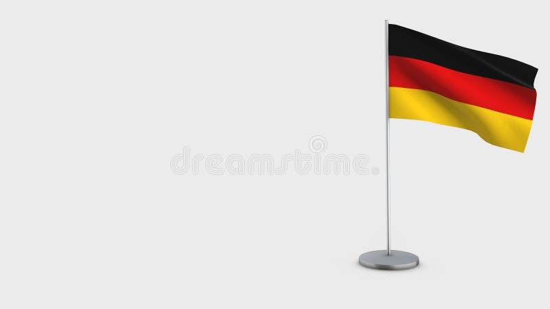 3D golvende de vlagillustratie van Duitsland stock illustratie