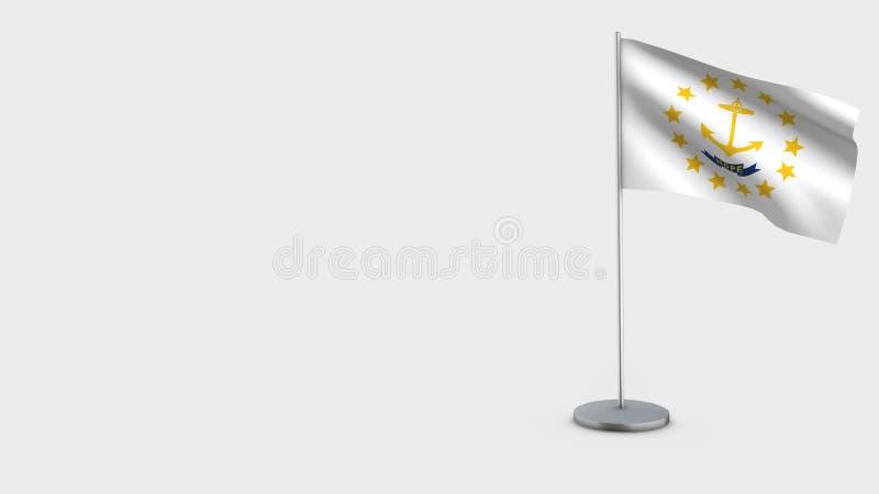 3D golvende de vlagillustratie van Rhode Island vector illustratie