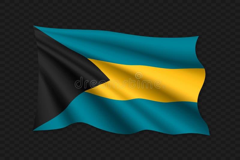 3D Golvende Vlag stock illustratie