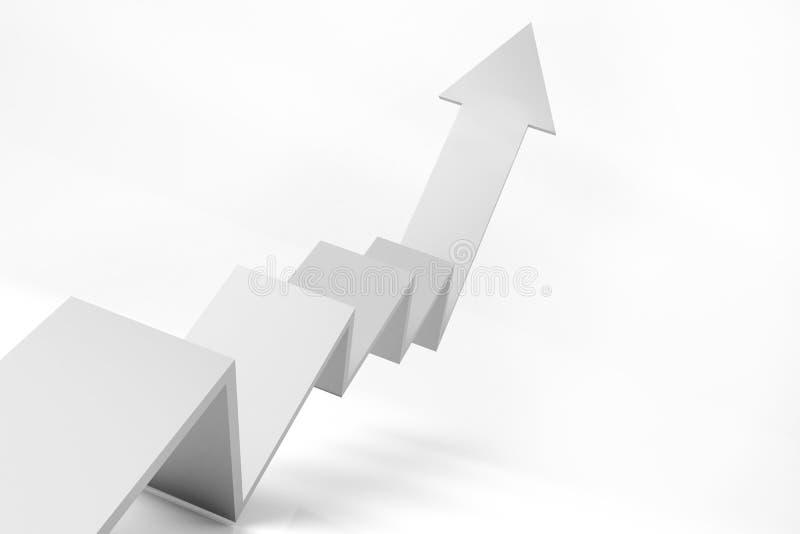 3D grafiek van de groei stock afbeelding