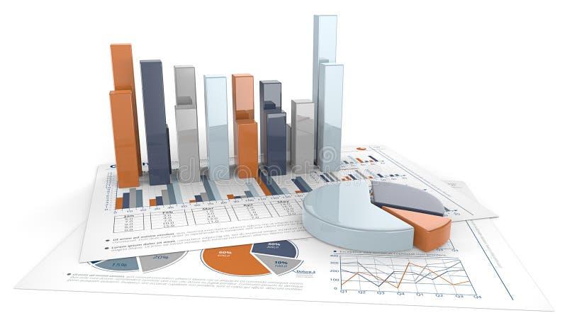 3D Grafieken en Grafieken royalty-vrije illustratie