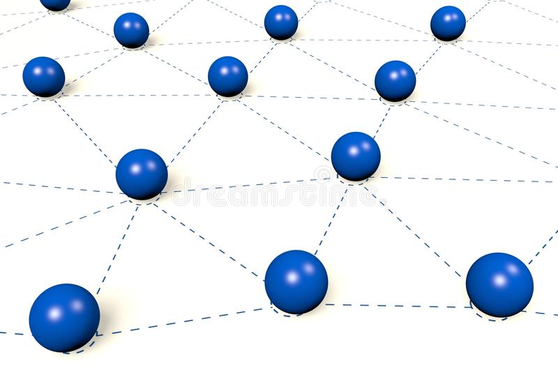 3D grafika, metafory, sieć, sfery. royalty ilustracja