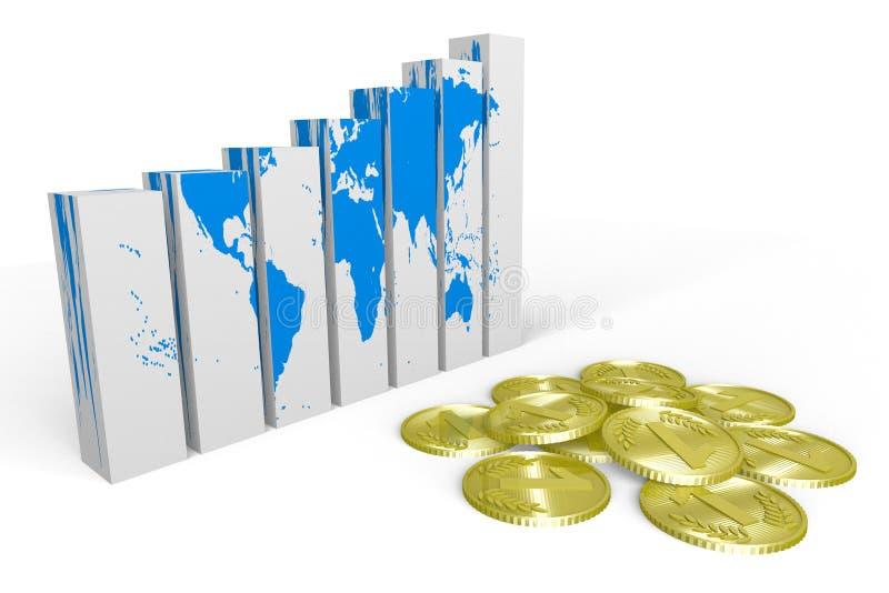 3D grafika, metafory, ziemia, globalny biznes, gr ilustracji