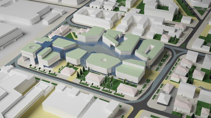 3D grafika miastowy środowisko ćwiartka royalty ilustracja