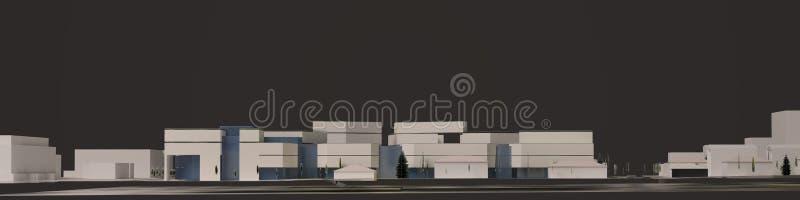 3D graphics of the urban environment. quarter. 3D Rendering, 3D Illustration stock illustration
