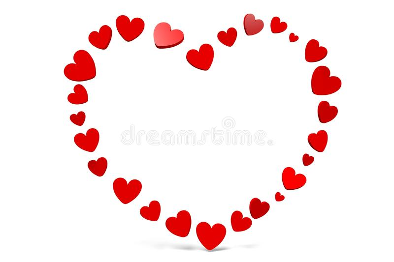 3D graphics, Valentine's Day, 14th February, hearts, Happy Valentines!... stock illustration