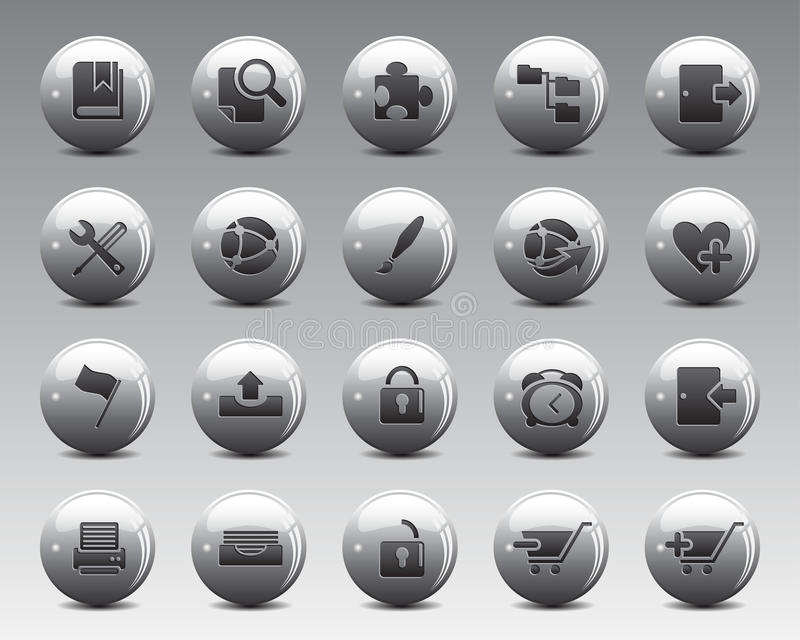 3d Grey Balls Stock Vector web and office icons in high resolution. vector illustration