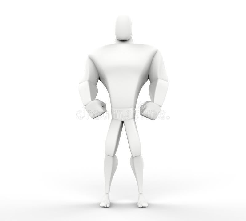 3D Grote Kerel boze tribune vector illustratie