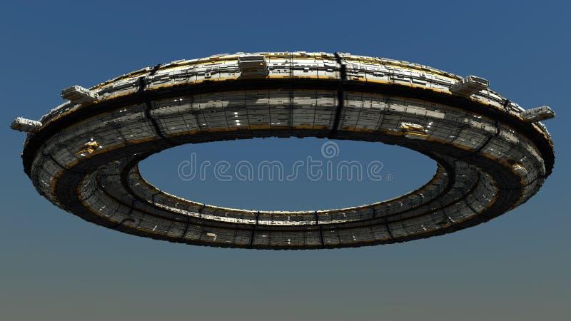 Scifi Ufo vector illustratie