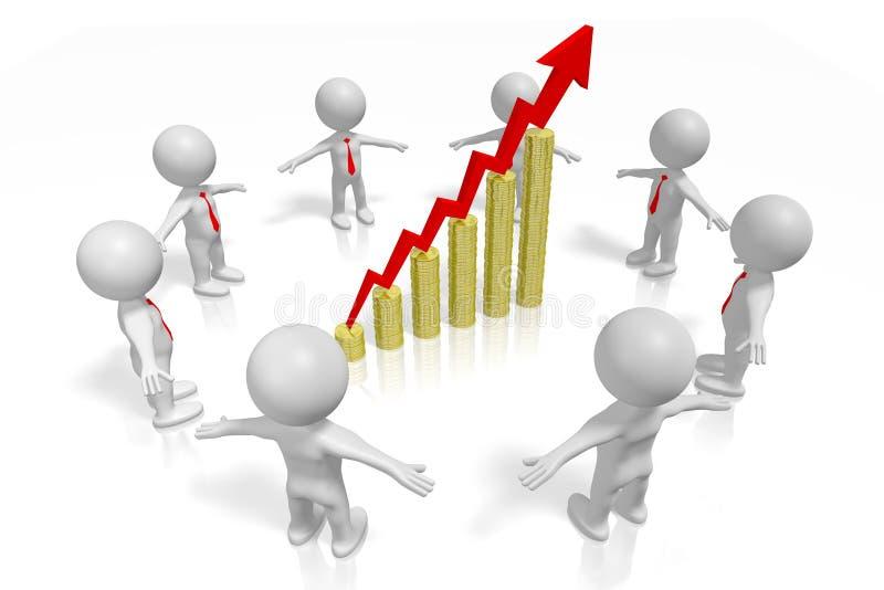 3d Growth Chart Concept Stock Illustration Illustration Of Upward