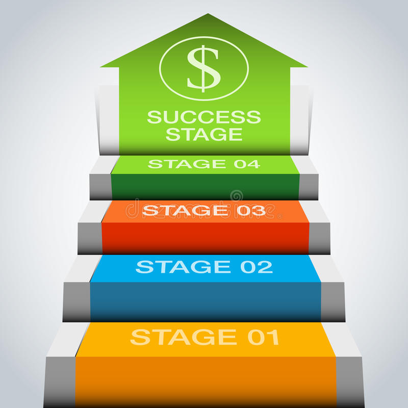 3d Growth Stage Chart stock illustration